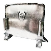 1951 Silver Plate Pennsylvania Railroad Menu Holder