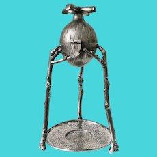 Victorian Figural Silver Plated Citrus Press