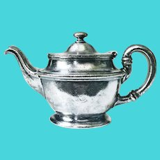 1929 Silver Plated Teapot from St George Hotel in Brooklyn
