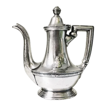 1947 Silver Plated Teapot from Hotel Washington