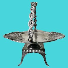 1892 Victorian Silver Basket Engraved as Best Cake Trophy