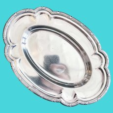 1906 Silver Plated Serving Tray from Hotel Havlin in Cincinnati OH