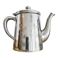 Antique Victorian Era Silver Plate Private Stock Rye Teapot