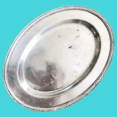 1925 Silver Plated Tray from Dollar Steamship Lines