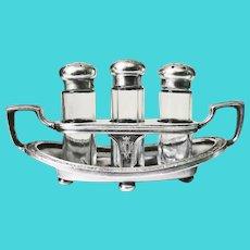 Vintage 1920s Silver Plate Shaker Set from Hotel Statler