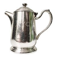 Vintage 1948 Silver Plated Teapot from New York Central Railroad