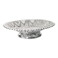 1896 Silver Plated Fruit Basket from Frederick Hotels London