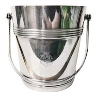 Vintage Christofle Silver Plate Ice Bucket from Compagnie des Messageries Maritimes