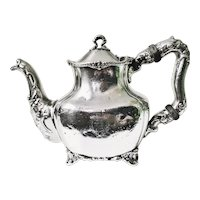 Antique Silver Plate Teapot from Hotel Touraine Boston