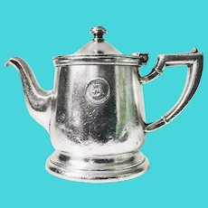 1947 Silver Plate Teapot from The Mayflower Washington DC