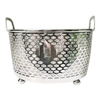 Antique Tiffany & Co Sterling Silver and Glass Ice Bucket - L Monogram