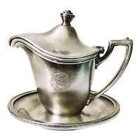 1947 Silver Plated Hawaiian Inter Island Steamship Syrup Pitcher