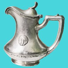 Vintage 1920s Silver Plate Creamer from The Boston Oyster House