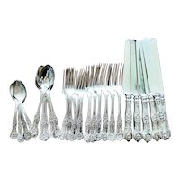 Service for 6 Antique Silver Tiffany and Co Flatware