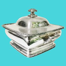 Antique Tiffany & Co Silver Plate Lidded Tureen