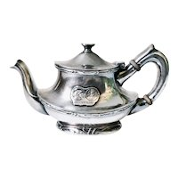 Antique Silver Plated Teapot from Hotel Alexandria Los Angles CA
