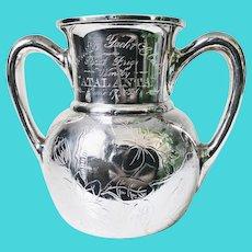1886 Silver Plated Yachting Trophy won by Jay Gould's Atalanta