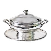 Antique Silver Plated Tureen from Union Pacific Railroad Overland Route
