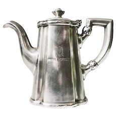1955 Silver Plated Teapot from Mark Hopkins Hotel San Francisco