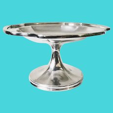 1948 Silver Dessert Stand from New York and Cuba Mail Steamship Company