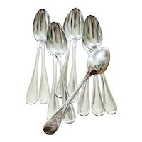 Set of 10 Christofle Silver Spoons from The Carlton Hotel in Cannes