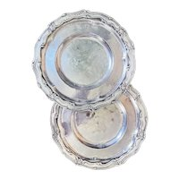Pair of Antique Silver Plated Serving Trays from The Bellevue-Stratford Hotel Philadelphia