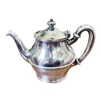 Antique Silver Plated Maine Central Railroad Teapot