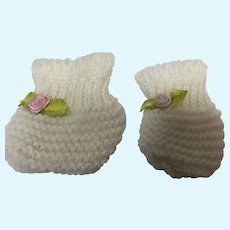 Madame Alexander White Booties for Large Sized Baby Dolls