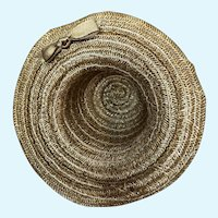 Vintage Ginny Straw Hat with Brown Bow