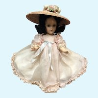 Vintage Composition Scarlett Doll in Pink