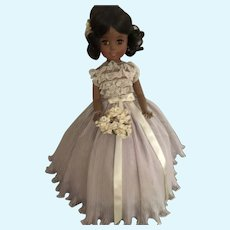 Beautiful Afro-American Madame Alexander Leslie Bridesmaid in Lavender Gown