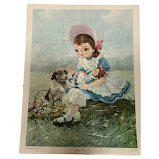 Vintage Little Lady Cosmetic  Party Time Puzzle