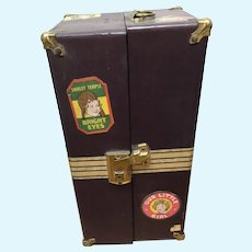 Vintage Shirley Temple Trunk for 13 inch Doll