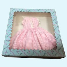 MIB Madame Alexander Cissette  Pink and White Checked Dress