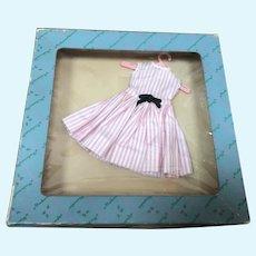 MIB Madame Alexander Cissette Pink and White Stripe Dress