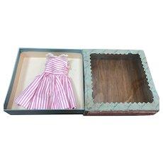 MIB Madame Alexander Hot Pink and White Stripe Dress