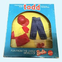 MIB Todd Red and Denim Outfit by Mattel