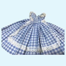 Madame Alexander Cissy Checkered Apron Front Dress