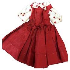 Madame Alexander Cissette Red Taffeta Dress
