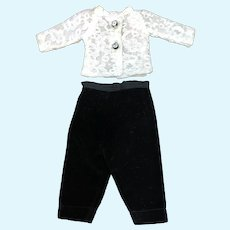Madame Alexander Cissette Black Velvet Pants and White Lace Blouse