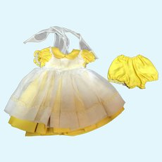 Madame Alexander Lissy Yellow Dress with Panties and White Pinafore