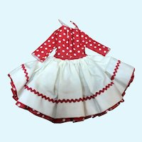 Madame Alexander Cissette Red and White  Square Dance Dress
