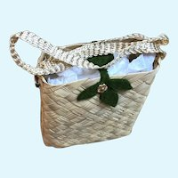 Madame Alexander Cissy Straw Shopping Purse