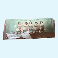 Dionne Quintuplets Blue Hair Bow with Plastic Dionne Picture