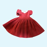 Madame Alexander Cissette Red Cotton Dress