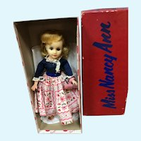 MIB Blond Miss Nancy Ann Doll in Blue and Pink Outfit