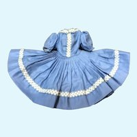 MIB Madame Alexander Cissette Blue Polished Cotton Dress