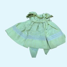 Madame Alexander Binnie Walker  Lime Green Taffeta Dress