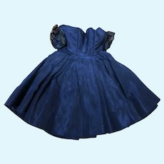 Madame Alexander Cissette Navy Blue Taffeta Dress