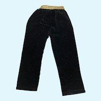 Madame Alexander Cissette Black Velvet Pants